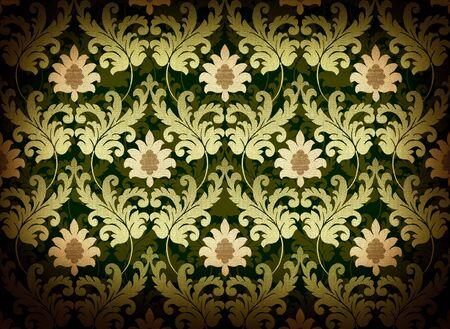 Decorative green renaissance background Stock Photo - 6528822