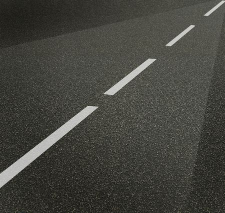 road street or asphalt texture with lines Stock Photo - 6661274