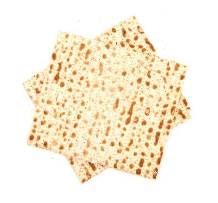 Matzo, isolated on white photo