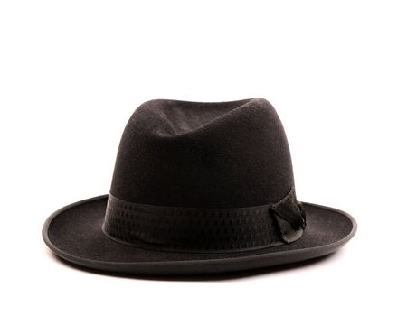 Black hat on white background photo