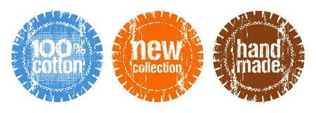 reeks van post zegels voor een nieuwe collectie van kleding