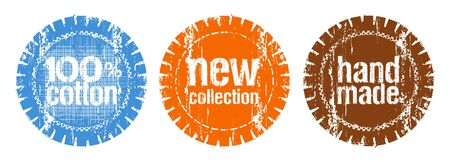 set of stamps for a new collection of clothes Vector