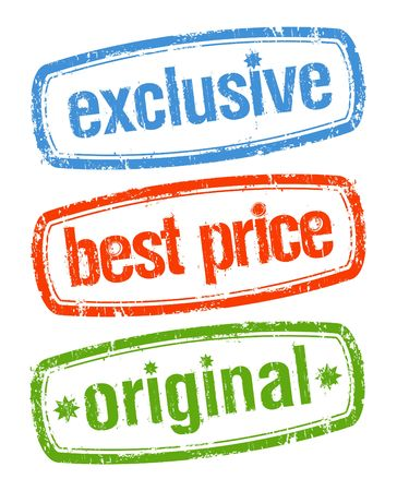 Set of stamps for exclusive sales under the best price Vector