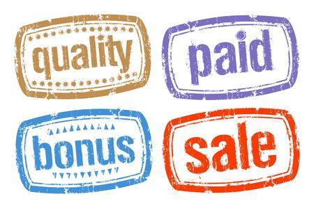 office products: Conjunto de sellos para mejores ventas Vectores