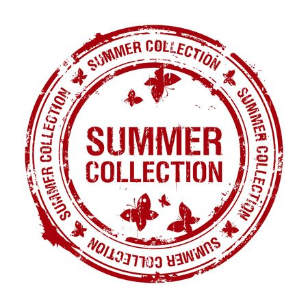 summer collection rubber stamp Stock Vector - 6911566