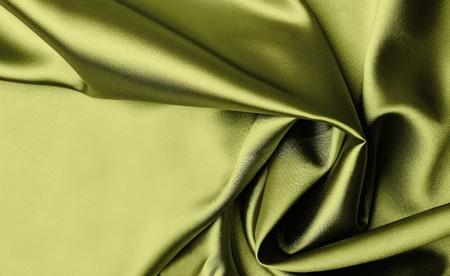 Smooth elegant green satin background photo