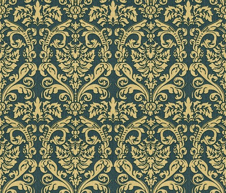 venetian victorian: Seamless damask wallpaper Stock Photo