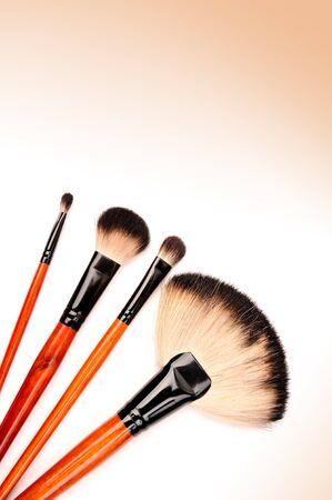 cosmetic brushes isolated on white photo