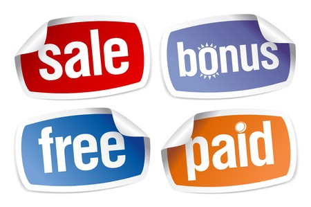 Set of stickers for best sales Vector