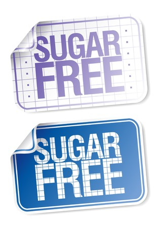 Set of labels for sugar free food  Vector