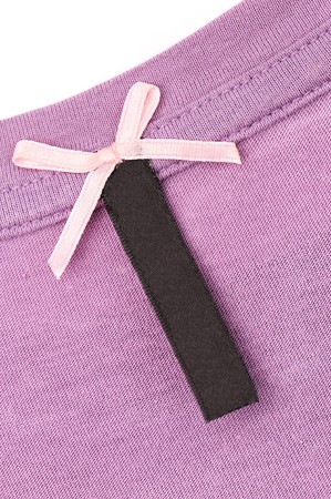 close-up of clothing label photo