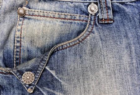 Jeans with pocket, denim background  photo