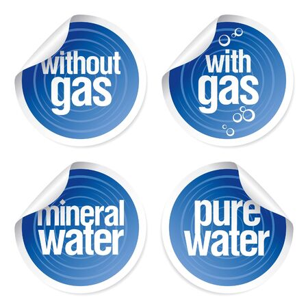 Set of stickers for mineral water. Stock Vector - 7125631