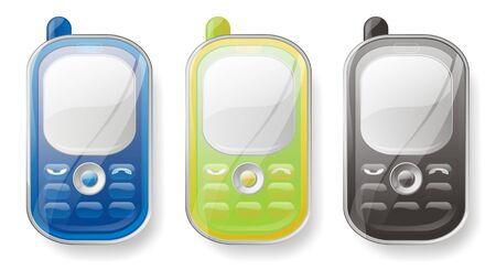 Mobile phones set Stock Photo - 7281407