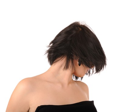 hairdress: girl with a stylish hairdress
