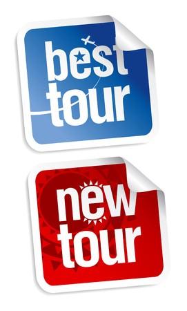 hot tour: New best tours stickers set