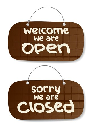 informative: Vector Open and Closed Signs