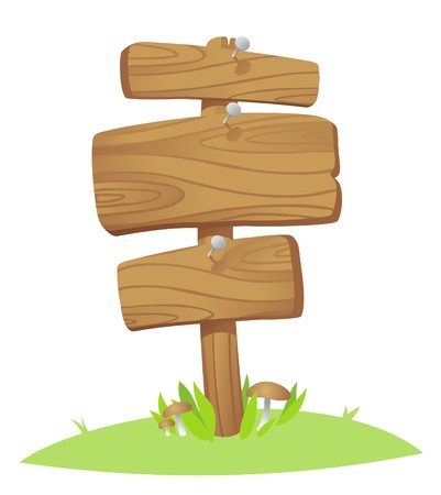 wooden boards on a grass Stock Vector - 7318130