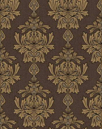 brown with gold damask background Stock Photo - 7331477