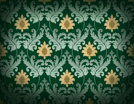 Decorative emerald green renaissance background Stock Photo - 7422185
