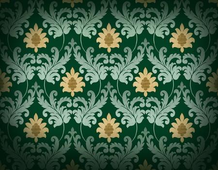 Decorative emerald green renaissance background photo