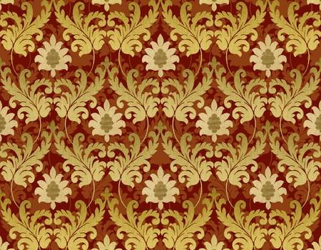 Złota i dekoracyjnych czerwone tło renesansu