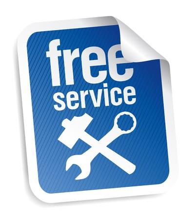 free service guarantee sticker Stock Vector - 7571106