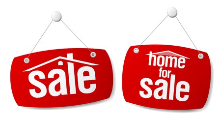 Property Sale  Signs Vector
