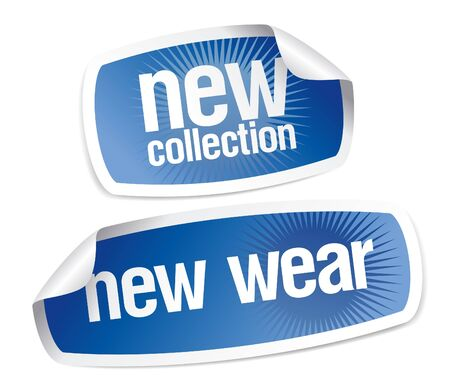 New wear collection stickers set Illustration