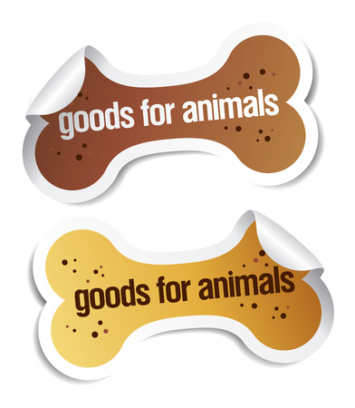 doods para el conjunto de pegatinas de mascotas  Ilustración de vector