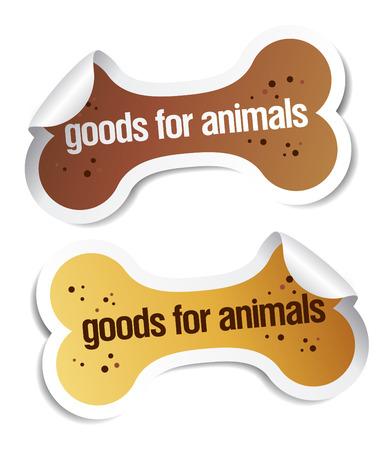 doods voor huis dieren stickers set Vector Illustratie
