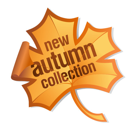 new autumn collection sticker Stock Vector - 7804736