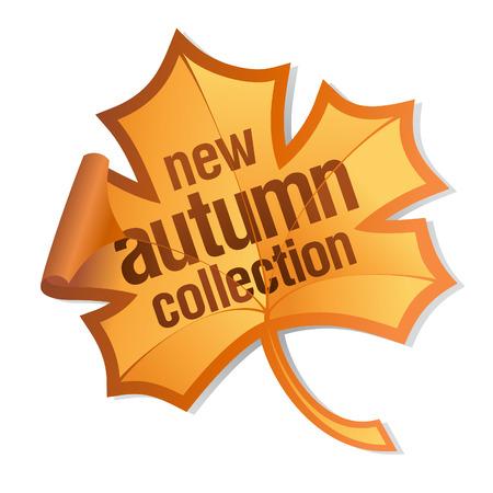 pricetag: new autumn collection sticker Illustration