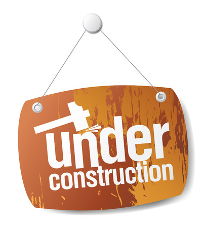 construction nails: under construction sign