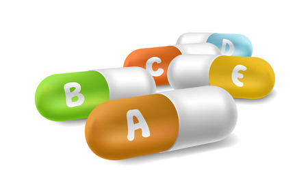 vitamin tablets Vector