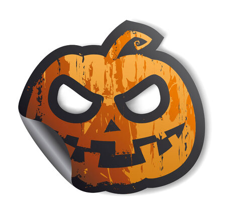Halloween symbol, sticker. Vector