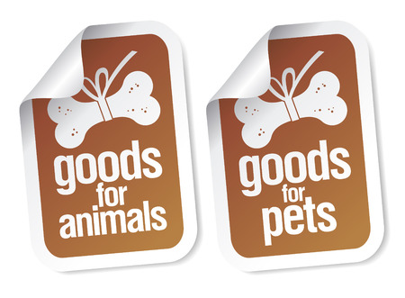 pet store: doods for pets stickers set