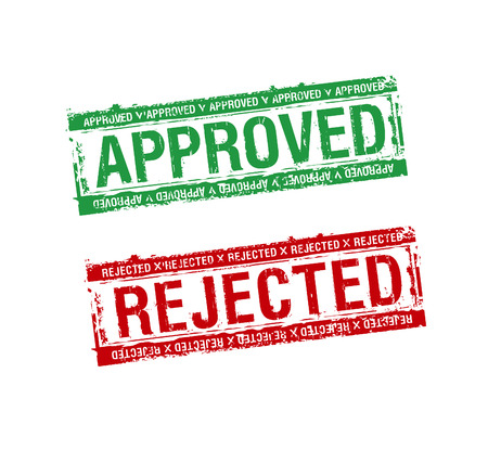 denied: vector rubber stamps approved and rejected