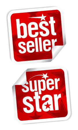 Bestseller and superstar stickers set. Stock Vector - 7879656