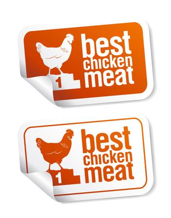 Best chicken meat stickers set Stock Vector - 7879658