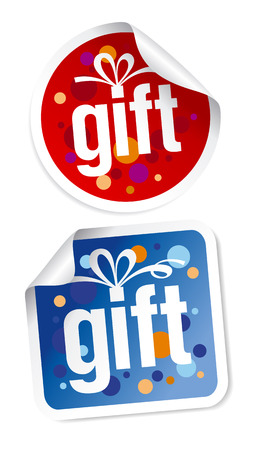 Gift stickers set Stock Vector - 7879652