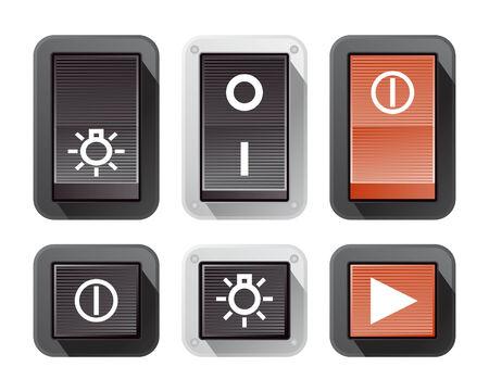 Vector Power Buttons Vector
