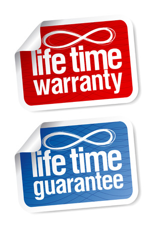 Life time guarantee stickers set Stock Vector - 7887896