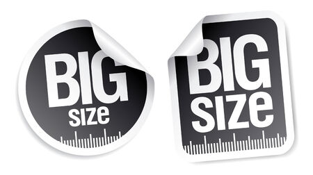 xl: big size clothing stickers set