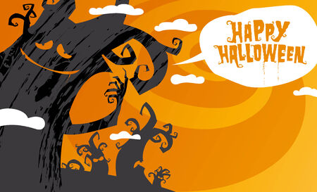 Happy halloween background, vector illustration. Vector
