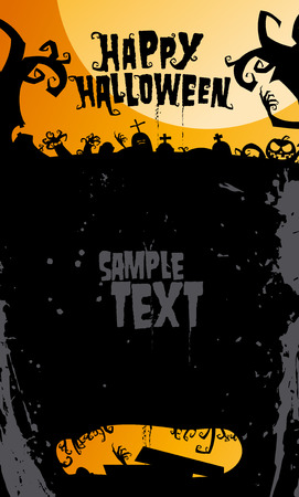 Happy halloween background, with place for text. Vector