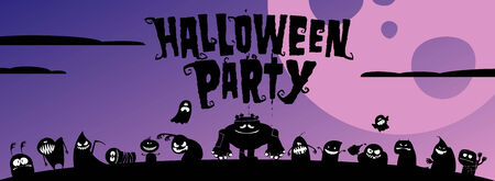 Halloween party invitation, with place for text. Vector