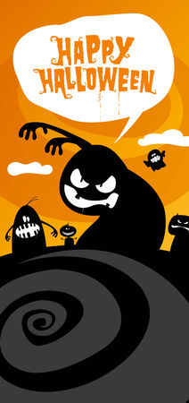 Happy halloween background, with place for text. Stock Vector - 8021294