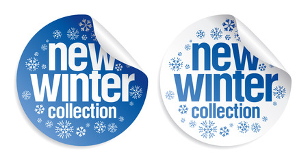 New winter collection stickers set Stock Vector - 8021299