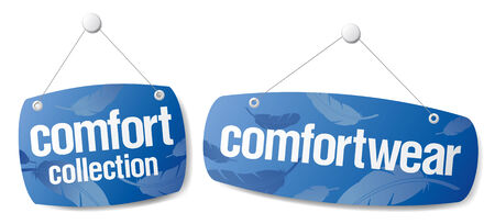 Signs for comfort wear collection Vector